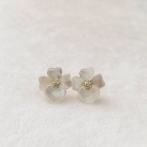 Kate Spade Precious Pansy Flower Stud Earrings